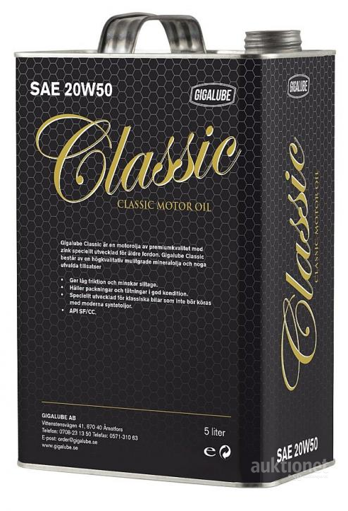 Gigalube Classic Motor Oil, 5 l #11668