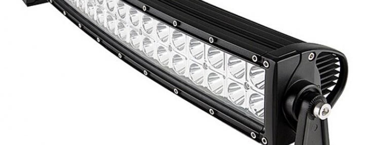 LED Ljusramp 120W Curved,