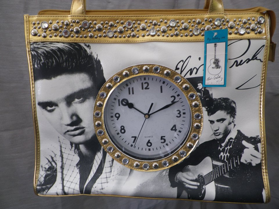 18686 Elvis Presley Totebag med klocka, Ashley M