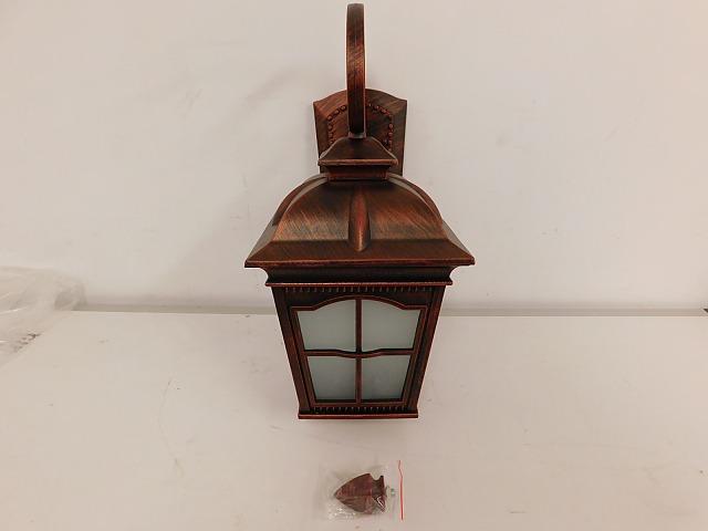 Herrgårdslyktor antikbehandlad, frostat glas 2 st auktionet