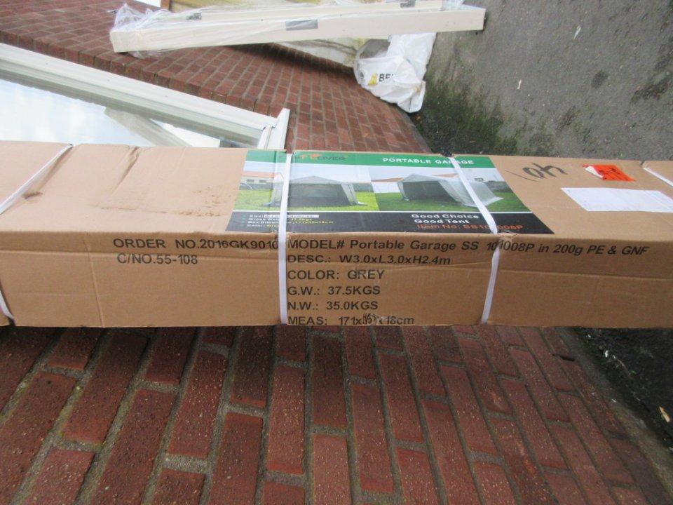 Garagetält Portable Garage 9 m2 East Cover | auktionet